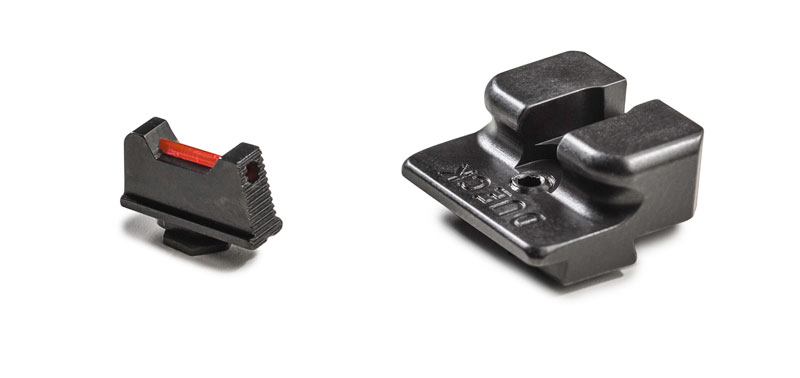 Dueck Defense Fiber Optic Front Sight and Fixed Rear Sight DD-DFR-FO25-G