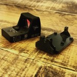 Dueck Defense Red Dot Backup Sight Base RBU 2-dot Tritium with Trijicon RMR RM02 Red Dot